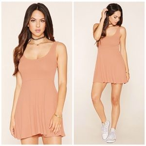 Ribbed Knit Skater Dress